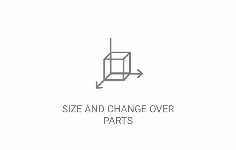 Size & Chage Over Parts